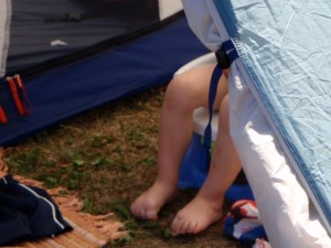 Potty training while camping